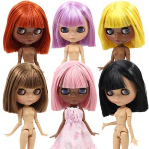 ICY DBS Blyth doll Tan and Super Black skin joint body 1/6 BJD special price 1/6 BJD gift toy
