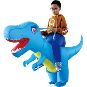 Adult Kids Inflatable Costume Halloween Dragon Dinosaur Cosplay T-Rex Fancy Dress Children Ride On Dino Purim Costumes