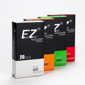 EZ Assorted New Mixed Revolution Tattoo Cartridge Needles  RL RS M1 CM for Cartridge Machine Grips Tattoo Supply 200 pcs /lot
