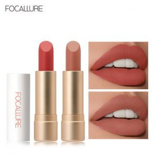 FOCALLURE Staymax Powder Matte Lipstick Lightweight Waterproof Lips Makeup Nude Matte Velvet Lip Stick