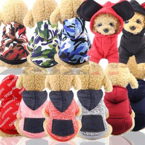 Winter Warm Pet Dog Clothes Soft Cotton Four-legs Hoodies Outfit For Small Dogs  Teddy Clothing Puppy Coat