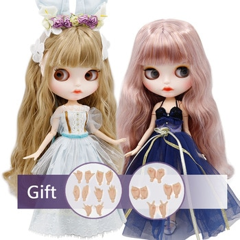 ICY factory blyth Doll Nude Joint Body  with hand set A&B New matte faceplate white skin Fashion Dolls gift Special Offer