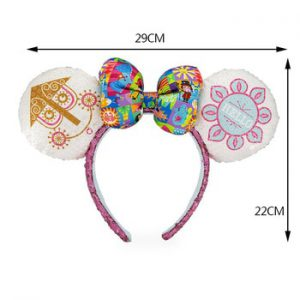 Disney A Small World Headband Ears Cute Cartoon Pattern Girl Toy Headdress Birthday Party Decoration Christmas Gifts