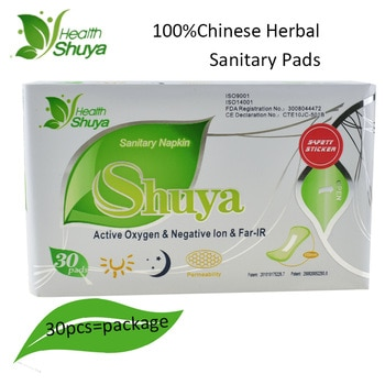 30pcs/Pack Anion Sanitary Pads Menstrual Pads Anion Sanitary Towels Cotton 100%Chinese Herbal Medicine Hygienic Pad Panty Liner