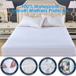 Smooth Waterproof Mattress Protector Cover For Bed WettingHypoallergenic Protection Pad Anti Mites Bed Cover For Mattress Topper