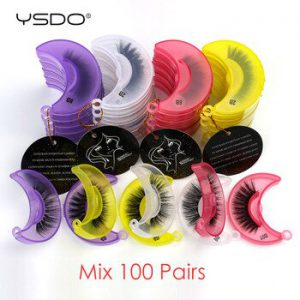 YSDO 3D Mink Lashes Wholesale 20/30/40/100 Pairs Fluffy Mink Eyelashes Makeup Natural False Eye Lashes Extension Lashes In Bulk