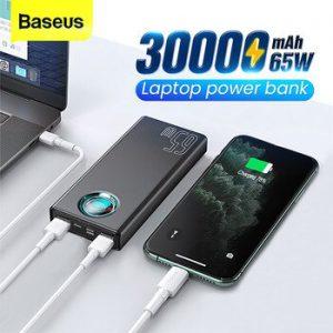 Baseus 65W Power Bank 30000mAh USB C PD Quick Charge 30000 Powerbank Portable External Battery Charger For iPhone Xiaomi Laptop