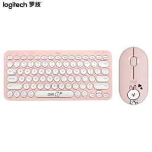 Logitech feat. Line Friends K380 Keyboard M350 Pebble Mouse Multi-Device Bluetooth Wireless Windows MacOS Android IOS Chrome OS