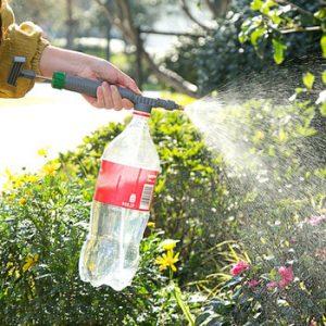 High Pressure Air Pump Manual Sprayer Adjustable Drink Bottle Spray Head Nozzle Portable Plastic Sprayer Garden Watering Tools