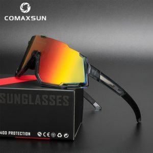 Comaxsun Polarized 3 Lens Cycling Glasses Road Bike Cycling Eyewear Cycling Sunglasses MTB Mountain Bicycle Cycling Goggles 822