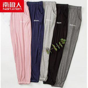 NANJIREN Women Top Modal Pajama Sleepwear Pants Fashion Female Hot Sale Sleep Pants Elastic Sleep Bottoms Casual Home Trousers