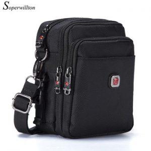 Soperwillton Men Shoulder Bag Casual Messenger Bags Waterproof Man Purse Oxford Zipper Crossbody Can Be Equipped With Belt #1052