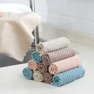 Home Kitchen Towel Super Absorbent Dish Towel Kichen Tools Multifunctional Wiping Rags Anti-Grease Cleaning Tools