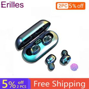 Newest B5 Wireless Headphones Bluetooth 5.0 Fitness Sport TWS Earphone LED Android Earbuds For iPhone Huawei Xiaomi HiFi Stereo