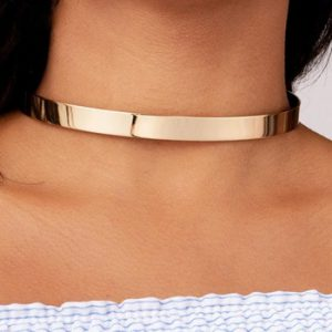 10MM Metal Cuff Collar Torques Necklaces Simple Choker Necklace Fashion Vintage Jewelry Minimalism Gift Party Accessories UKMOC