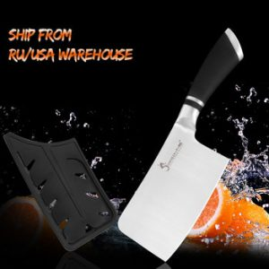 SOWOLL Cutlery Kitchen Cleaver Knife High Carbon Stainless Steel Knives Butcher Chopper Cleaver Stainless Steel Chopping Knife