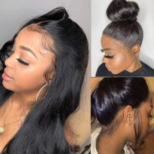 360 Lace Wig Human Hair Pre Plucke For Black Women Brazilian Remy Straight Lace Front Human Hair Wigs 360 Lace Frontal Wig