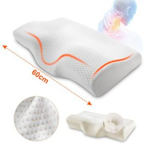 Orthopedic Memory Foam Pillow 60x35cm Slow Rebound Soft Memory Slepping Pillows Butterfly Shaped Relax The Cervical For Adult