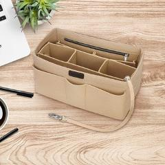 Office Sundries Make Up Container Boxes Felt Cloth Inner Handbag Multi-pockets Cosmetic Storage Organizer Luggage Holder