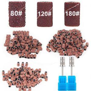 "100pcs 80''/120''/180"" Nail Art Sanding Bands Gel Polish Remover Tool Accessory for Electric Nail Machine Nail Drill Bits"