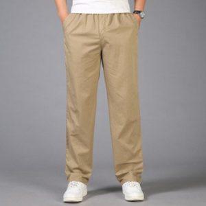 2021 Fashion Summer Men Pants Casual Cotton Long Pants Straight Joggers Male Fit Plus Size M-6XL Luxury Business Trousers Homme