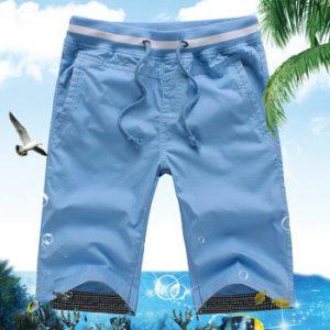 New 2020 Men's Summer Casual Shorts Men Straight Shorts Male Fashion Cotton Beach Short Pants Candy Colors Plus Size 5XL