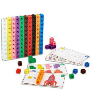 10 Colors Graphics Math Link Cubes Baby Geometric Counting Cubes Snap Blocks Stacking Cube Building Kit Kids Early Education Toy