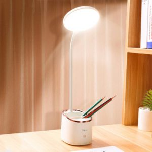 1800mAh 18650 Rechargeable Table Lamp Storage Pen Hoder Lamps Table 18pcs Led Touch Table Lamp USB Hose Student Led Desk Lamp