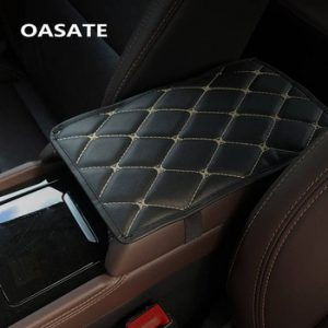 Leather Car Armrest Pad Covers Universal Center Console Auto Seat Armrests Box Pads Black Armrest Storage Protection Cushion A01