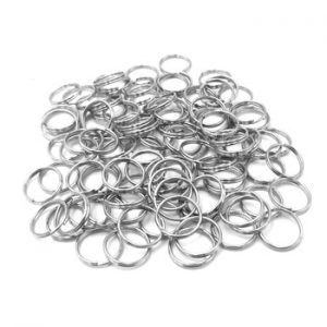 10mm Dog Tag Rings Round Keychain Metal Diy Ring For Pet Id Dogs Cats Split Key Rings Cat Collar Accessories