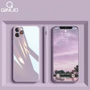 Square Liquid Tempered Glass Case For iPhone 11 12 Mini Pro Max XS XR X 7 8 Plus SE2020 Original Silicone Candy Cover Protection