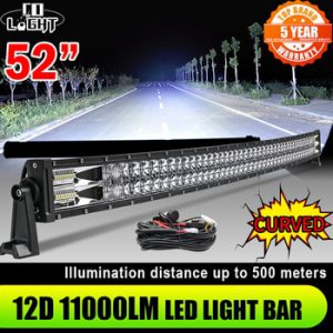 CO LIGHT 52 42 32 22 inch Curved LED Light Bar 420W 620W 820W 1020W Flood Spot Combo Led Work Light Bar For Offroad UAZ 12V 24V