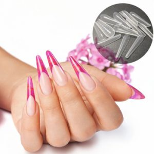 2021 New Upper Forms On Nails Gel Mold Nail System Tips Nail Extension Tips Dual Form Scale Top Molds Extended Building Tools