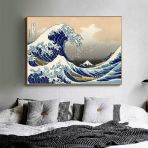 The Great Wave of Kanagawa Ukiyoe Japanese Art Poster Vintage Wall Canvas Print Famous Painting Living Room Decoration Picture