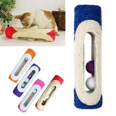 Cat Toy Scratcher Rolling Tunnel Sisal Ball Trapped With 3 Ball Toys for Cat Interactive Training Scratching Toys Cat Scratcher