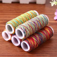 5Pcs Rainbow Color Sewing Threads Embroidery Sewing Thread Kit DIY Quilting Yarn Thread Craft Home Sewing Accessories