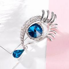 Angel's Teardrop Brooches Broches for Women Vintage Evil Eye Angle Tear Brooch Wedding Hijab Scarf Pin Up Buckle feminino Broche