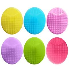 Silicone Face Cleansing Brush Shampoo Massager Mini Sucker Brush Exfoliating Pore Cleanser Baby Head Cleaning Brush Beauty Tools