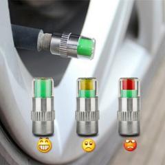 4pcs Car Tire Pressure Gauge Indicator Alert Monitoring Valve Cap Sensor Tire Pressure Indicator External Valve Detection