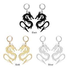 1 Pair Hip Hop Dragon Ear Stud Earring Women Acrylic Pendant Dangle Drop Exaggerated Earrings Alloy Jewelry Gift dropshipping
