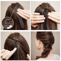 Centipede Shape Hair Clip Braider French Twist Plait Wave Hair Braiding Tool Holder Color Random