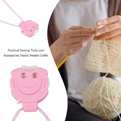 Plastic Needle Crafts Crochet Knitting Sewing Row Counter with Hanging Rope Sewing Tools