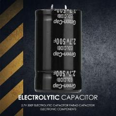 500F 35x60mm Super 2.7V 500F Capacitor Durable Farad Capacitor Electronic Components Necessary Automotive Circuit Accessories