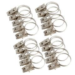 20pcs/set Curtain Rod Buckle Clips Stainless Steel Window Shower Curtain Rod Clips Rings Drapery Clips Home Decoration