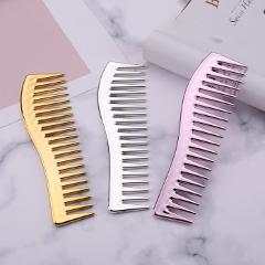 Resin Electroplating Hairdressing Comb Scalp Massage Hair Brush Large Wide Tooth Comb Haircut Tool for Salon Hair Brush