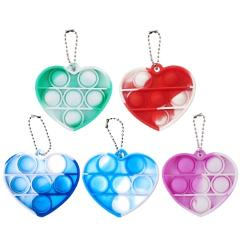 Heart Shape Push Pops Bubble Sensory Toy Autism Needs Squishy Stress Reliever Anti-stress Pops Fidget Reliver Stress Squeeze Toy