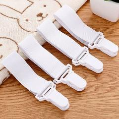 4PCS/Set Elastic Bed Sheet Mattress Cover Blankets Grippers Clip Holder Fasteners Kit Home Textiles Accessories