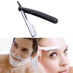 Manual Shaver Professional Straight Edge Stainless Steel Sharp  Razor Folding Shaving Shave Beard Cutter holder(No blade)