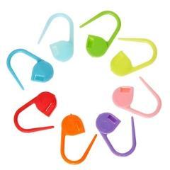 20/50/100pcs Locking Stitch Marker Lock Pins Plastic Ring Markers for Knitting Crochet DIY Apparel Sewing  E5M1