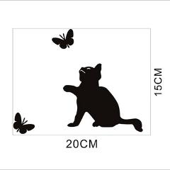 Tree Cat Printed PVC Waterproof Removable Self-adhesive Wall Sticker Bedroom Living Room Background Wall Decorative Decals